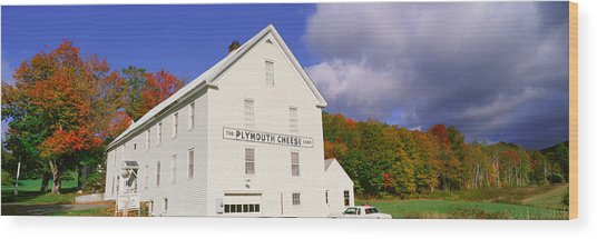 Plymouth Cheese Corporation In Autumn Wood Print