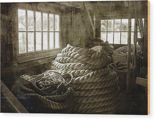 Plymouth Cordage Company Ropewalk Wood Print
