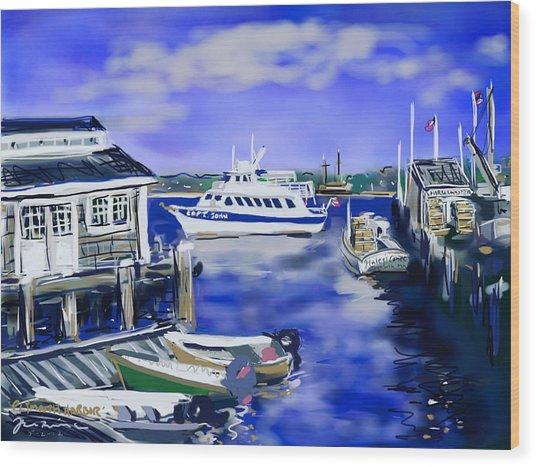 Plymouth Harbor Wood Print
