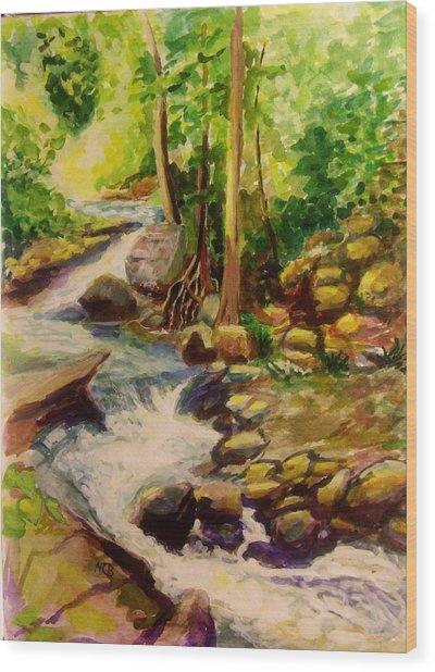 Pocantica River Rapids Wood Print