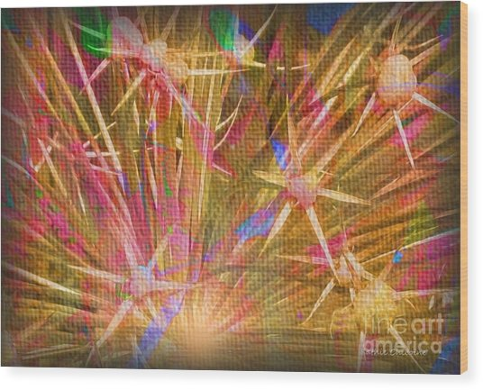 Pod Explosion Wood Print