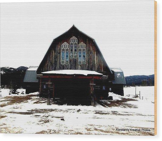 Poineer Church Wood Print by Misty Herrick
