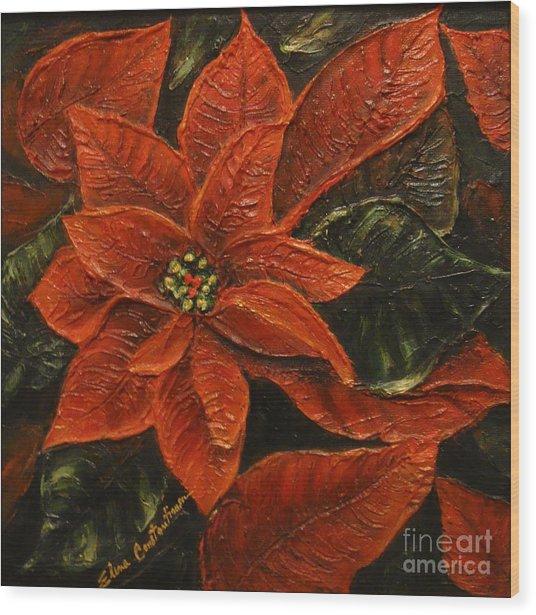 Poinsettia 2 Wood Print