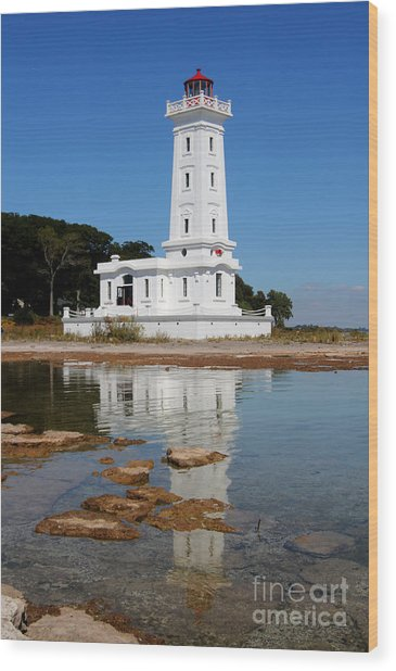 Point Abino Reflections Wood Print