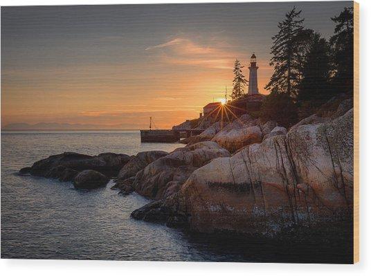 Point Atkinson Sunset Wood Print