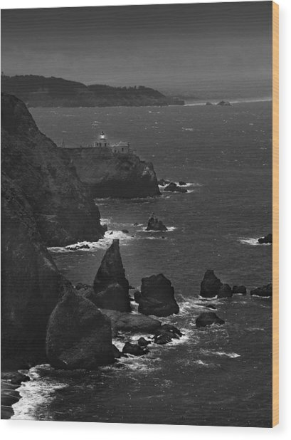 Point Bonita Light Wood Print