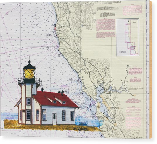 Point Cabrillo Light Station Wood Print