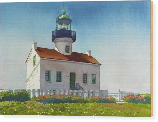 Point Loma Lighthouse Wood Print
