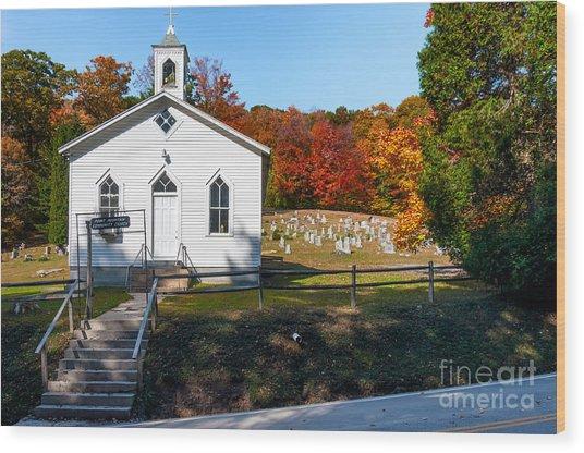 Point Mountain Community Church - Wv Wood Print
