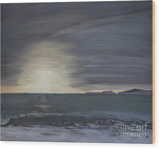 Point Mugu Sunset Wood Print