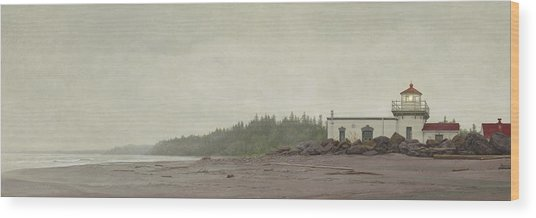 Point No Point Lighthouse Wood Print