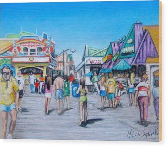 Point Pleasant Beach Boardwalk Wood Print