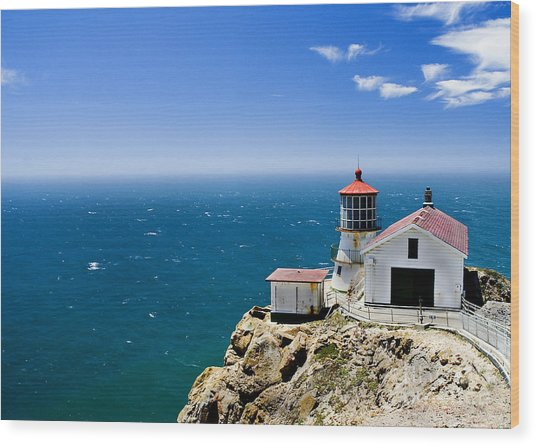 Point Reyes Lighthouse California Wood Print