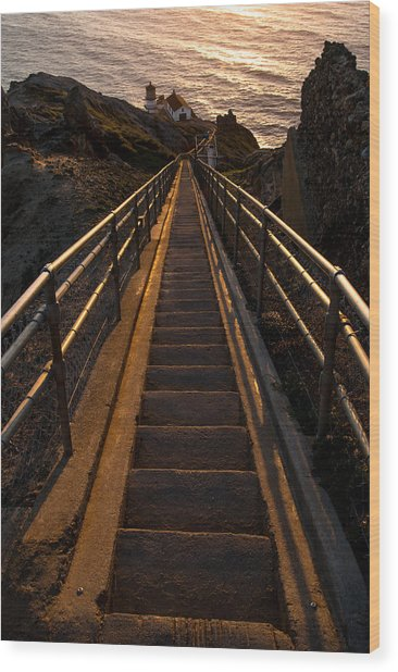 Point Reyes Lighthouse Staircase Wood Print
