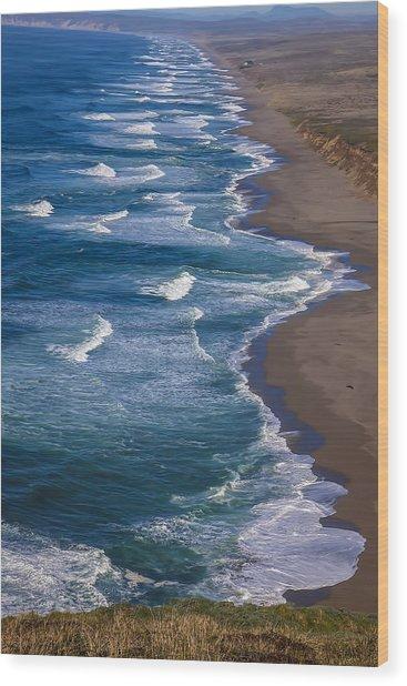 Point Reyes Long Beach Wood Print