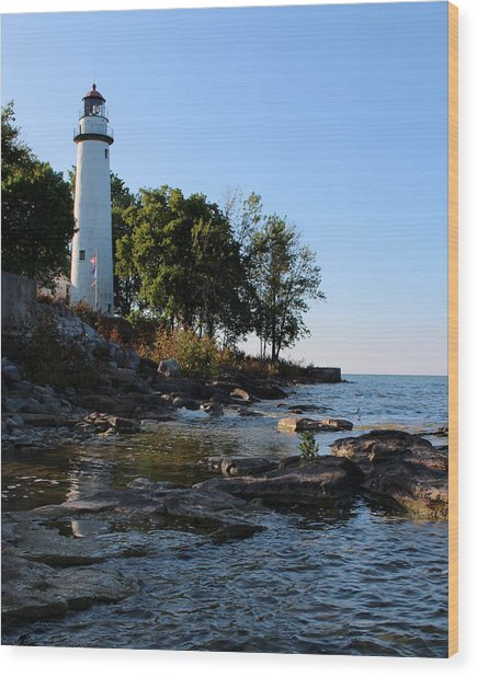 Pointe Aux Barques Lighthouse 1 Wood Print