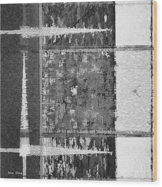 Points To White  Bw Wood Print