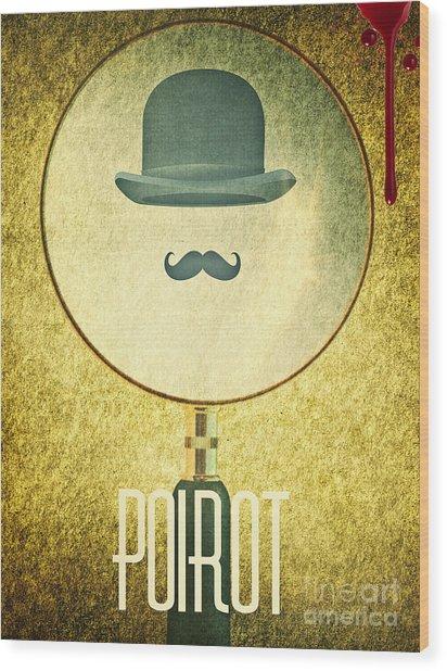 Poirot Wood Print