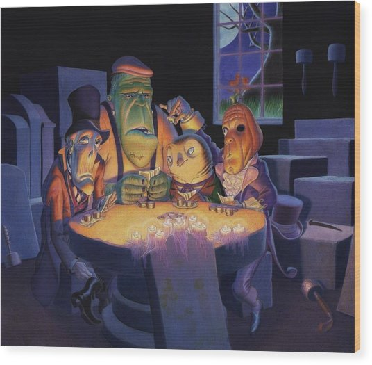 Poker Buddies Wood Print
