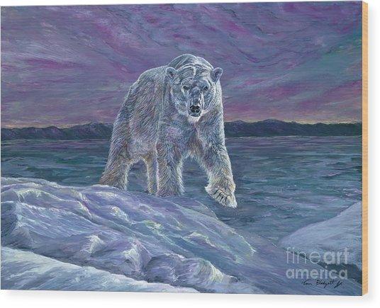 Polar Bear Wood Print