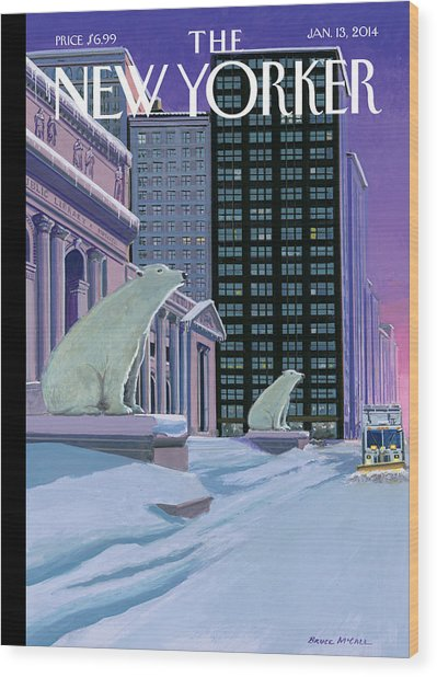 Polar Bears On Fifth Avenue Wood Print