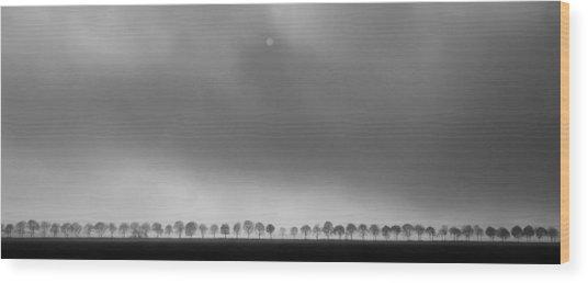 Polderlandscape Wood Print