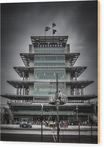 Pole Day At The Indy 500 Wood Print