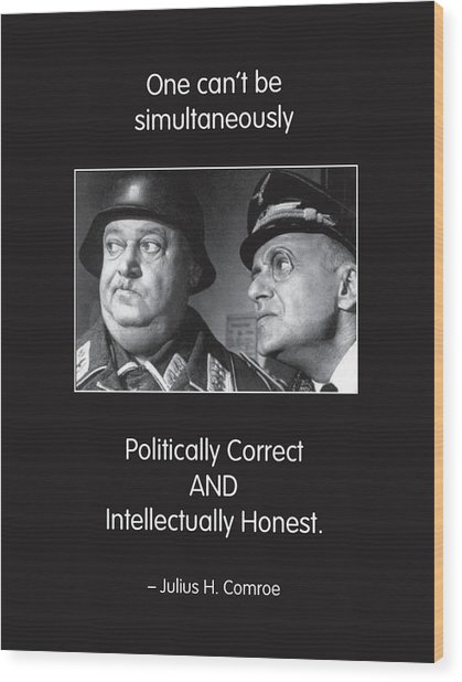 Political Correctness Wood Print by Mike Flynn