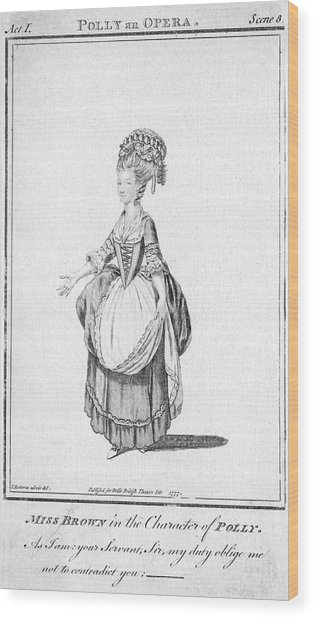 'polly' By John Gay - Miss Brown Wood Print by Mary Evans Picture Library