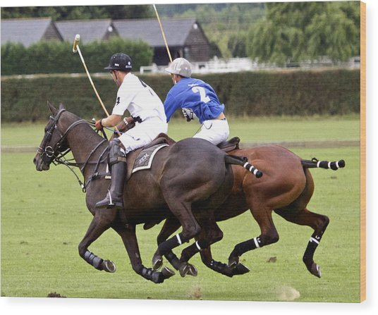 Polo Match In Argentina Wood Print