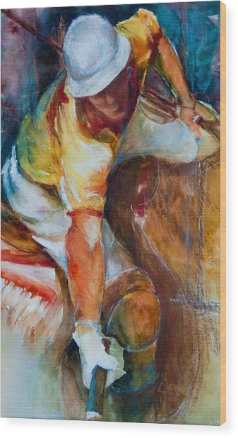 Polo Player Wood Print by Jani Freimann