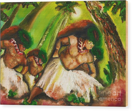 Polynesian Chant Wood Print