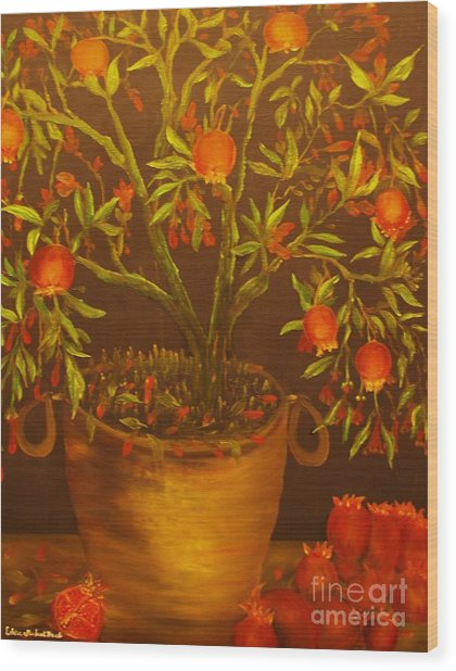 Pomegranate Tree Of Love-original Sold- Buy Giclee Print Nr 28 Of Limited Edition Of 40 Prints   Wood Print