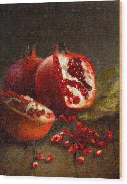 Pomegranates 2014 Wood Print