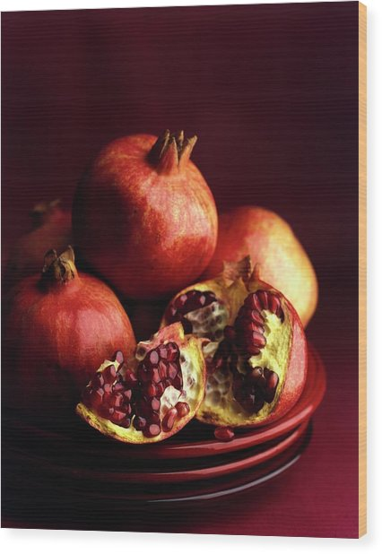 Pomegranates Wood Print