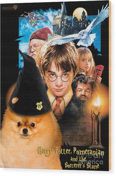 Pomeranian Art Canvas Print - Harry Potter Movie Poster Wood Print