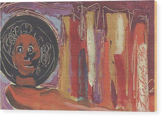 Pompeii Postcard Wood Print