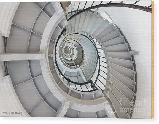 Ponce De Leon Inlet Lighthouse Staircase Wood Print