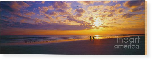 Ponce Inlet Fl Sunrise  Wood Print