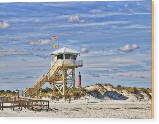 Ponce Inlet Scenic Wood Print