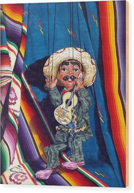 Poncho And His Guitar Wood Print