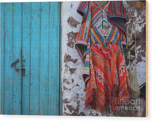 Ponchos For Sale Wood Print