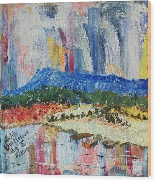 Pond By Massanutten Peak - Sold Wood Print by Judith Espinoza