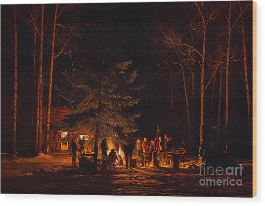 Ponderosa Christmas '14 Wood Print