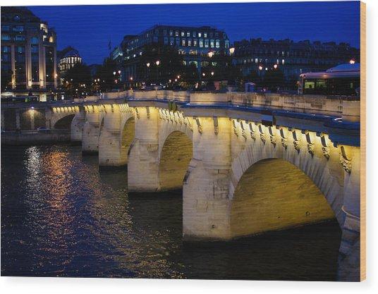 Pont Neuf Bridge - Paris - France Wood Print