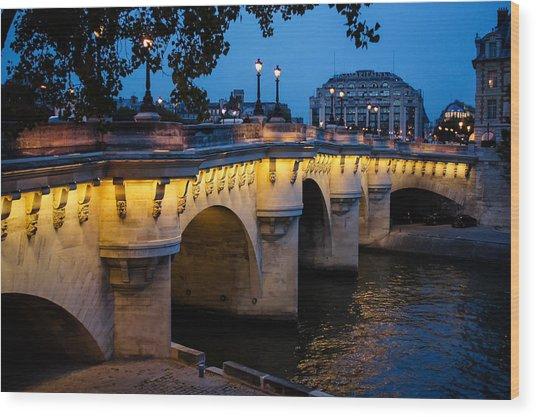 Pont Neuf Bridge - Paris France Wood Print