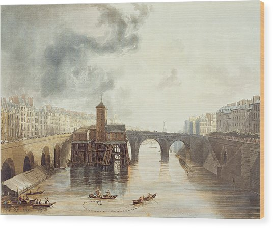 Pont Notre Dame, From Views Wood Print