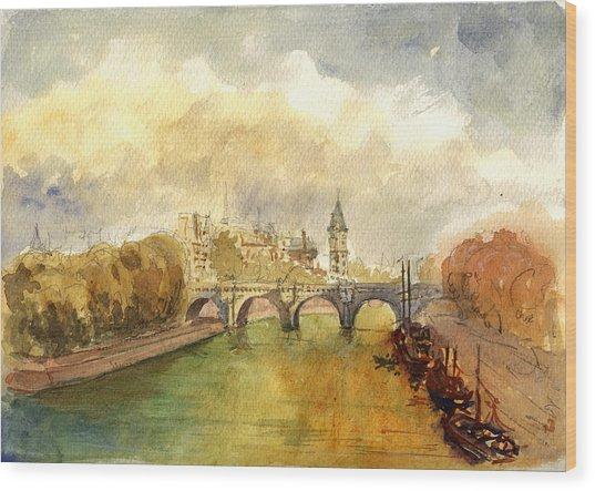 Ponte Neuf Paris Wood Print