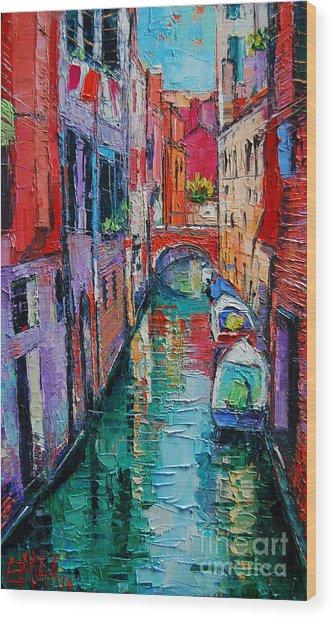 Ponte Raspi O Sansoni - Venice - Italy Wood Print