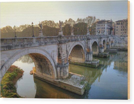 Ponte Sant'angelo  Wood Print